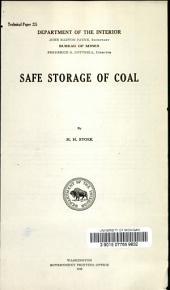 Safe storage of coal