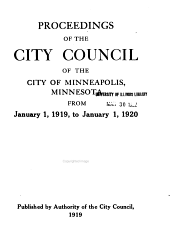 Proceedings of the City Council of the City of Minneapolis: Volume 45