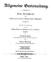 Allgemeine Gartenzeitung: Band 11