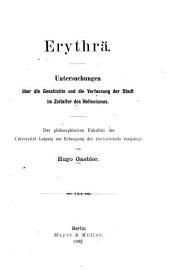 Erythrä: Untersuchungen über die Geschichte und die Verfassung der Stadt im Zeitalter des Hellenismus