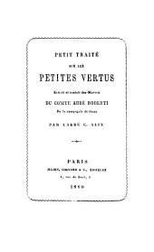 Petit traité sur les petites vertus: extrait et traduit des Oeuvres