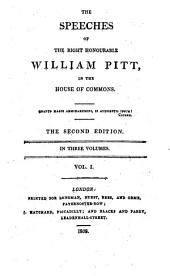 Speeches in the House of Commons (compiled by W. S. Hathway). 2. Ed: Volume 1
