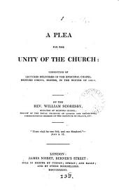 A plea for the unity of the Church: lectures