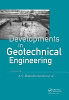 Developments in Geotechnical Engineering  from Harvard to New Delhi 1936 1994 PDF