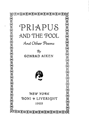 Priapus and the Pool  and Other Poems PDF