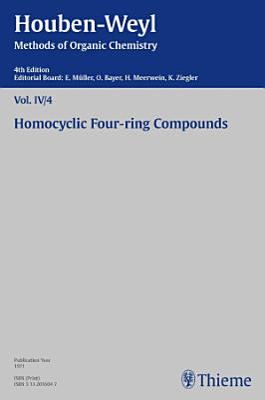 Houben Weyl Methods of Organic Chemistry Vol  IV 4  4th Edition PDF