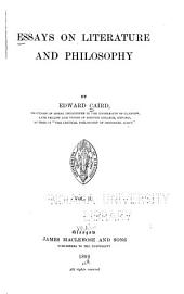 Essays on Literature and Philosophy: Cartesianism. Metaphysic
