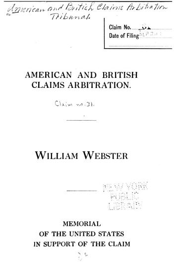 American and British Claims Arbitration PDF