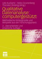 Qualitative Datenanalyse  computergest  tzt  PDF