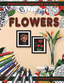 Flowers Coloring Book with Botanical Drawing