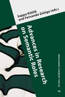 Advances in Research on Semantic Roles PDF