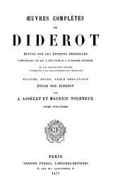 Œuvres complètes de Diderot: Correspondance générale, pt. 2. Appendices. Table générale et analytique
