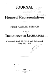 Journal of the House of Representatives ...: Volume 34
