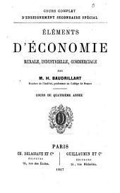 Élements d'économie rurale, industrielle, commerciale: cours de quatrième année
