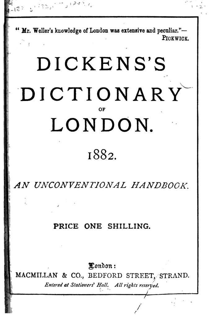 Dickens's Dictionary of London