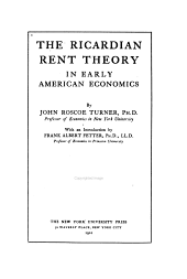 The Ricardian Rent Theory in Early American Economics
