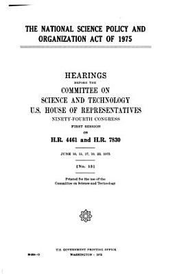 The National Science Policy and Organization Act of 1975 PDF