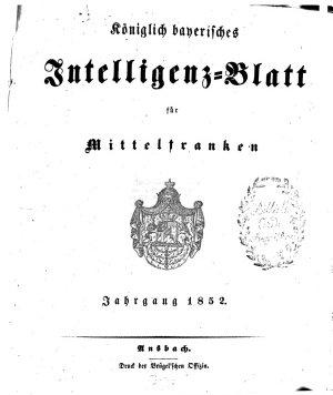 K  niglich Bayerisches Intelligenzblatt f  r Mittelfranken PDF
