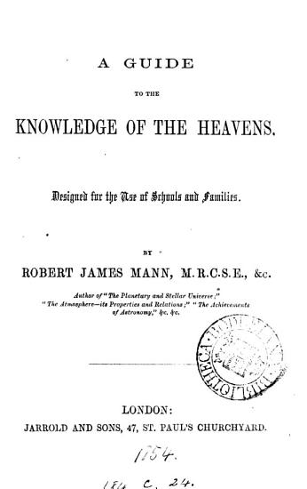 A Guide to the Knowledge of the Heavens PDF