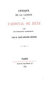 Oeuvres du Cardinal de Retz: Volume8