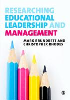 Researching Educational Leadership and Management PDF