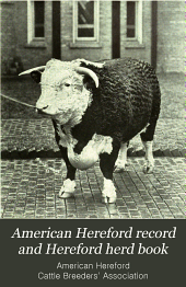 American Hereford Record and Hereford Herd Book: Volume 38