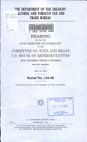 The Department of the Treasury Alcohol and Tobacco Tax and Trade Bureau PDF