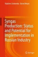 Syngas Production  Status and Potential for Implementation in Russian Industry PDF
