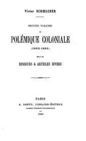 Polémique coloniale: Volume2