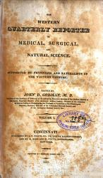 The Western Quarterly Reporter of Medical  Surgical  and Natural Science PDF