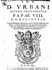 Constitutio contra astrologos iudiciarios