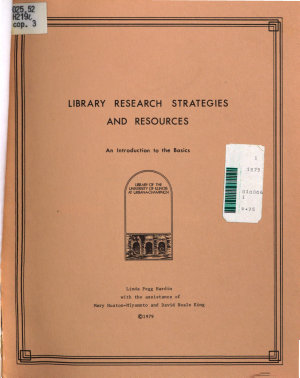 Library Research Strategies and Resources PDF