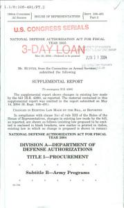 National Defense Authorization Act for Fiscal Year 2005 PDF