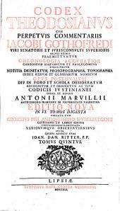 Codex Theodosianus: Volume 5