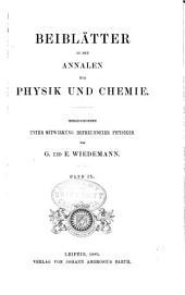 Annalen der Physik: Beiblätter, Band 9