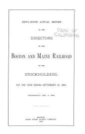 Annual Report of the Directors of the Boston and Maine Railroad to the Stockholders: Volume 56