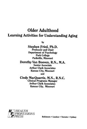 Older Adulthood PDF