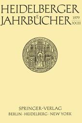 Heidelberger Jahrbücher: Band 23