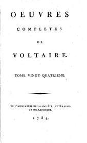 Œuvres completes de Voltaire: Volume24