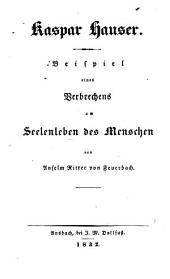 Kaspar Hauser: Beispiel eines Verbrechens am Seelenleben des Menschen