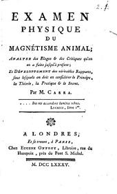 Examen physique du Magnetisme animal