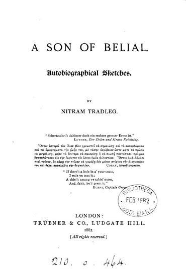 A Son of Belial PDF