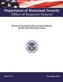 Review of the National Bio and Agro Defense Facility Site Selection Process   PDF