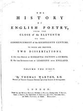 History of English Poetry: Volume 1
