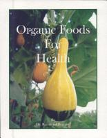 Organic Foods for Health PDF