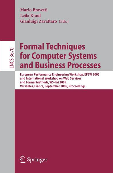 Formal Techniques for Computer Systems and Business Processes PDF