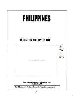 Philippines  Country Study Guide PDF