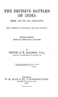 The Decisive Battles of India PDF