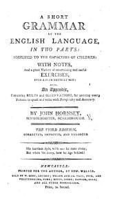 A short Grammar of the English language. ... Third edition