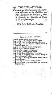 Examen d'un nouvel ouvrage du P. Berruyer, intitulé Réflexions sur la foi adressées à M. l'archevêque de Paris ...: on joint à cet examen une idée abrégée tant du Catéchisme, que du Symbole, qui résultent de la doctrine des PP. Hardouin & Berruyer